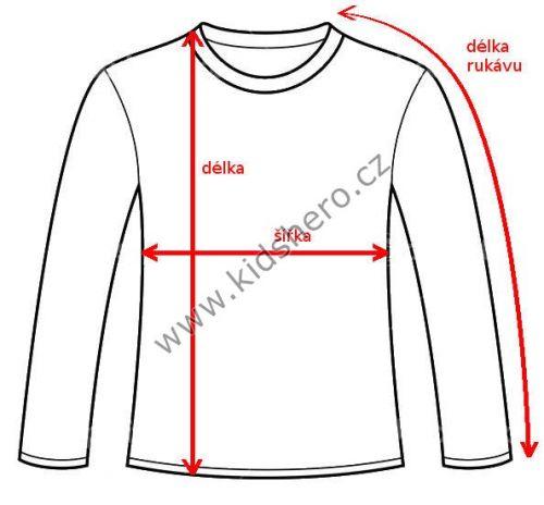 Jak měříme tričko s dlouhým rukávem