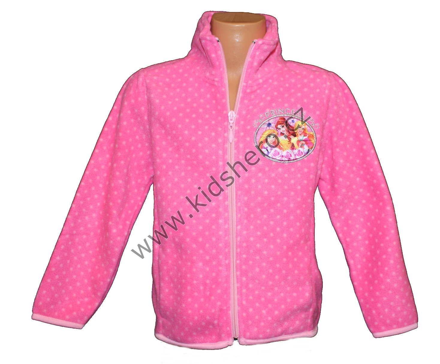 Mikina PRINCESS - fleesová - růžová Disney