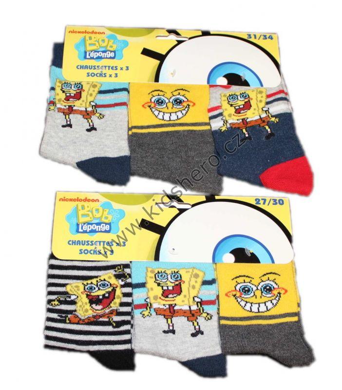 Ponožky SPONGE BOB - 3 ks Nickelodeon