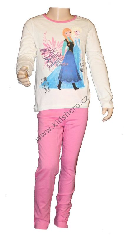 PYŽAMO - FROZEN - bílo-růžové Disney