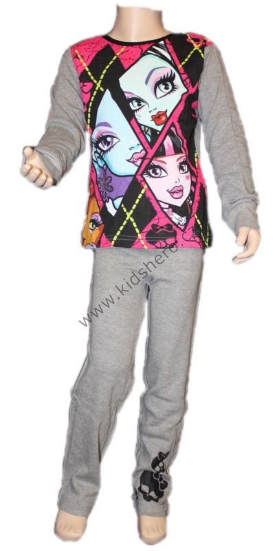 PYŽAMO - MONSTER HIGH - šedé Mattel