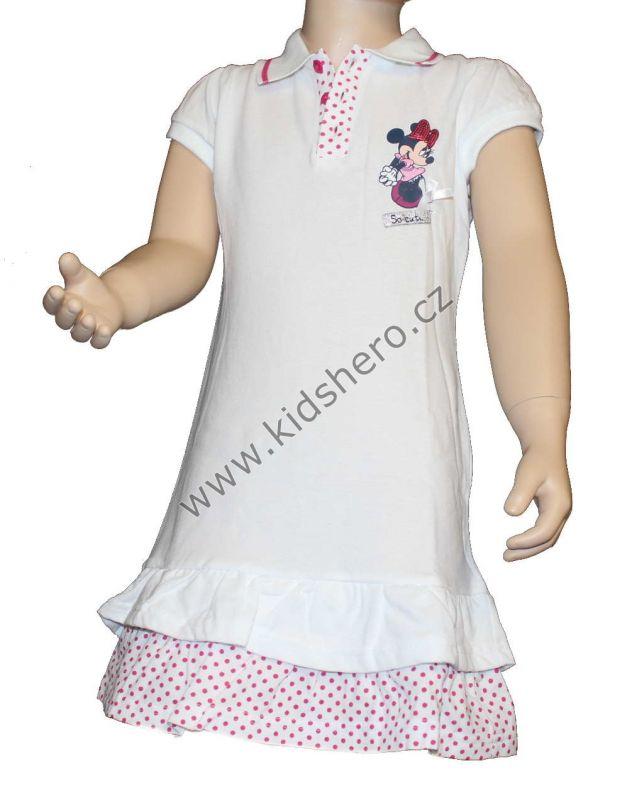 Šaty s límečkem MINNIE - bílé Disney