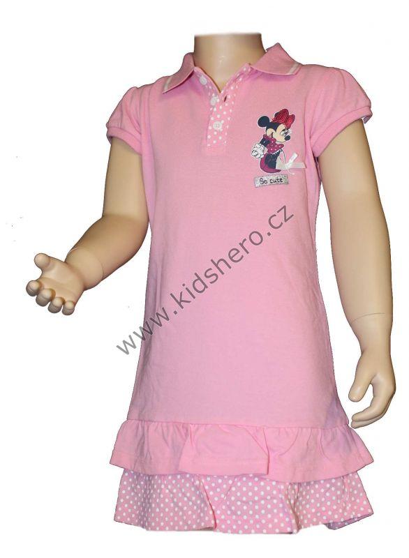 Šaty s límečkem MINNIE - sv.růžové Disney