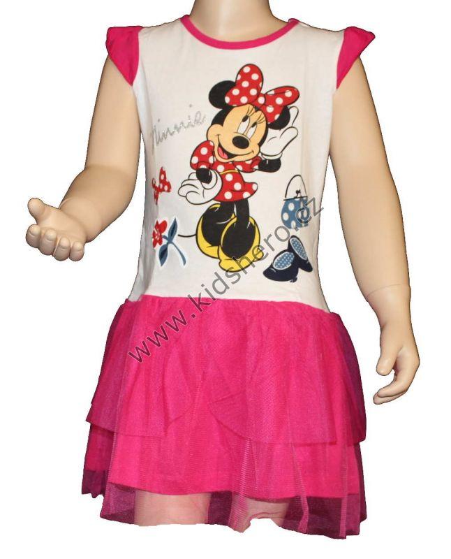 Šaty s tylovou sukní MINNIE - bílé Disney