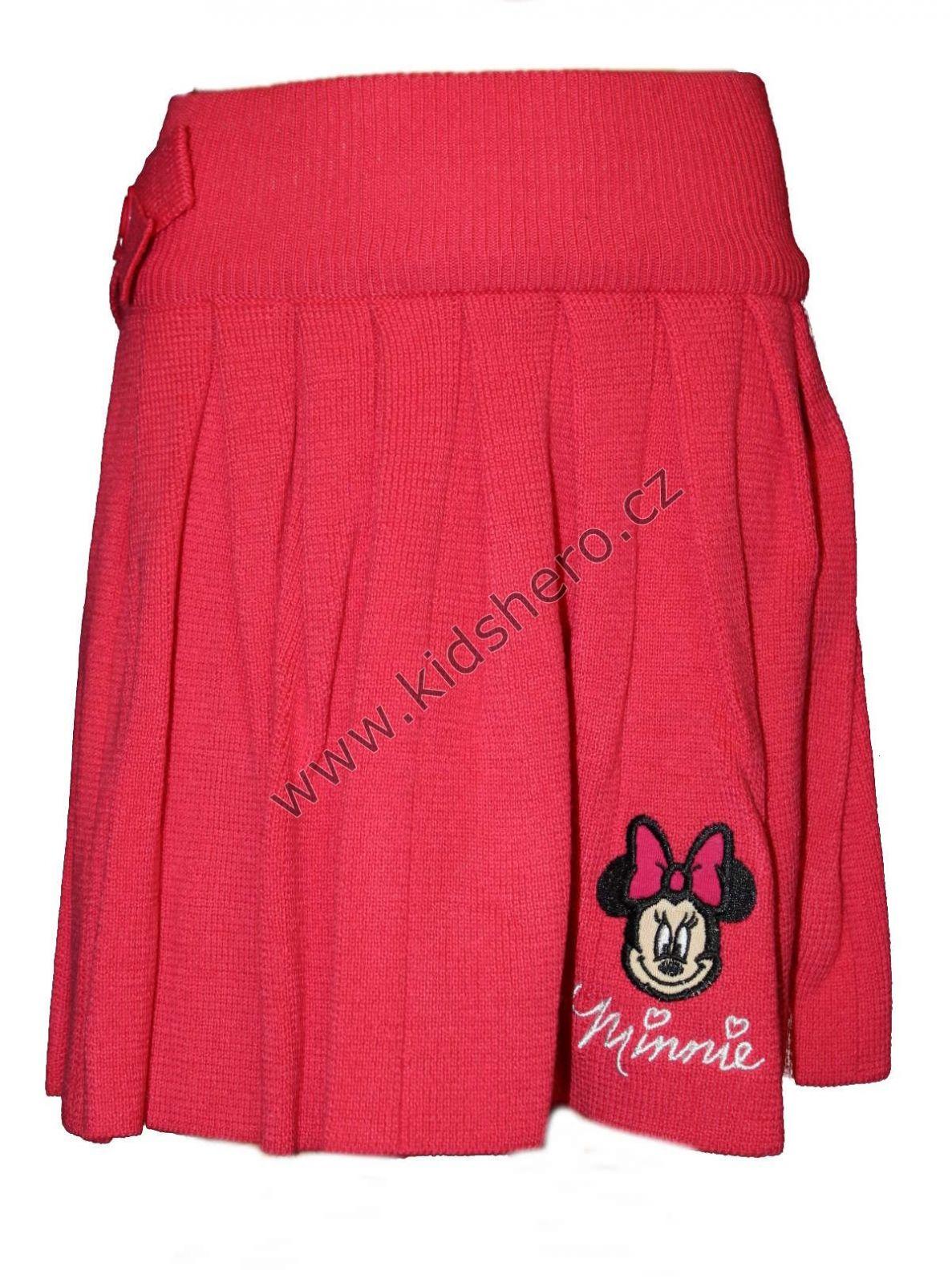 Skládaná sukně MINNIE - červená Disney