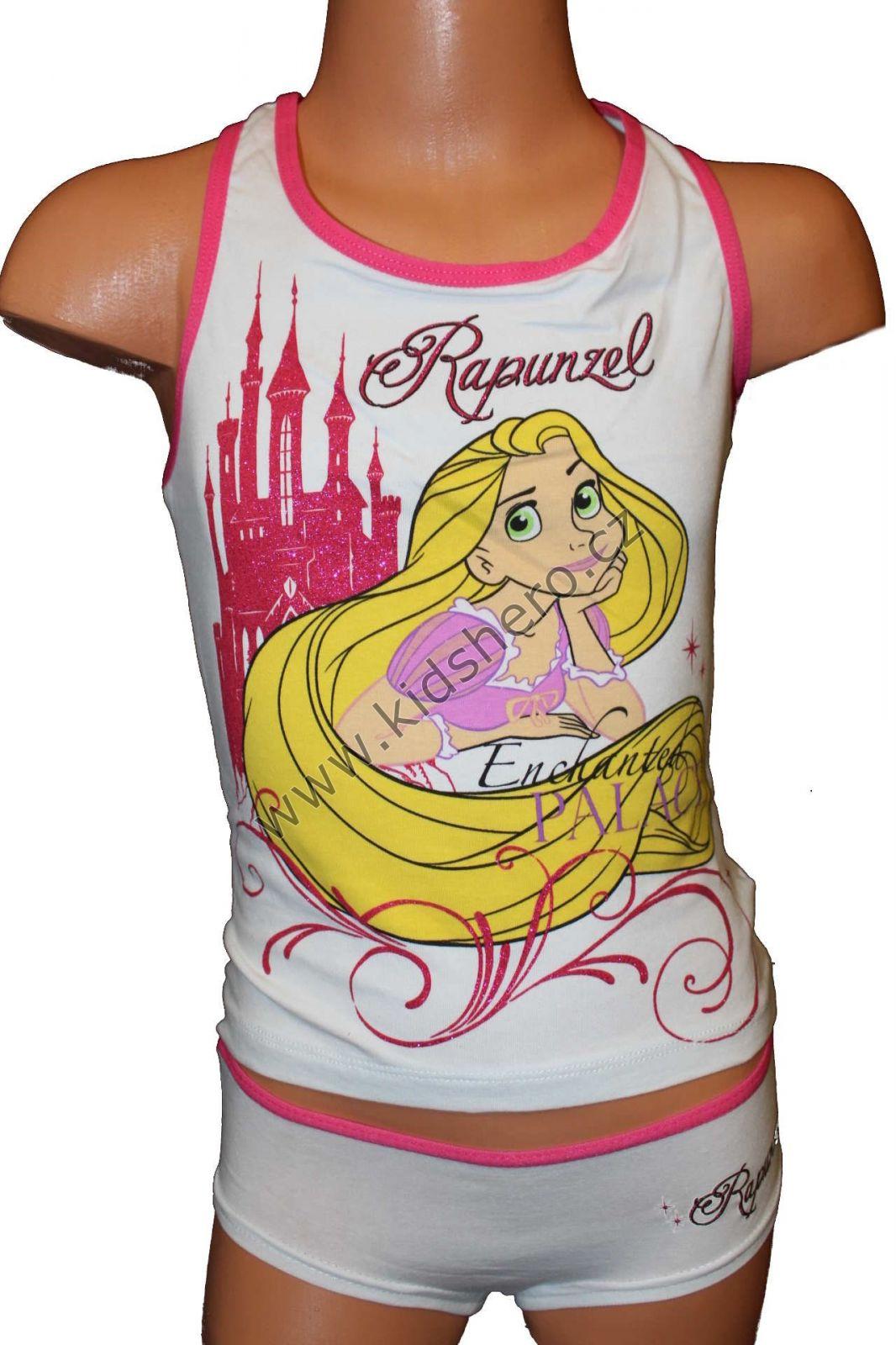 Souprava - tílko+ kalhotky - PRINCESS-LOCIKA-bílá Disney
