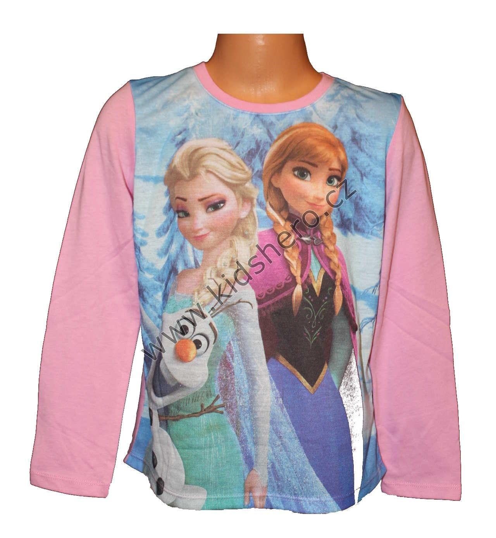 Triko dlouhý rukáv FROZEN - růžové 3 Disney