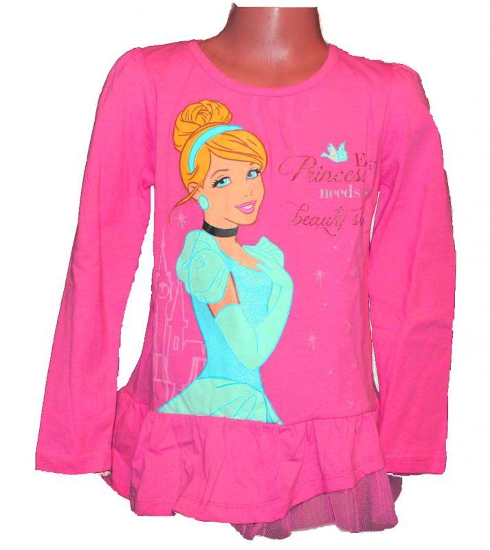 Triko dlouhý rukáv - tunika - PRINCESS - tm. růžová Disney
