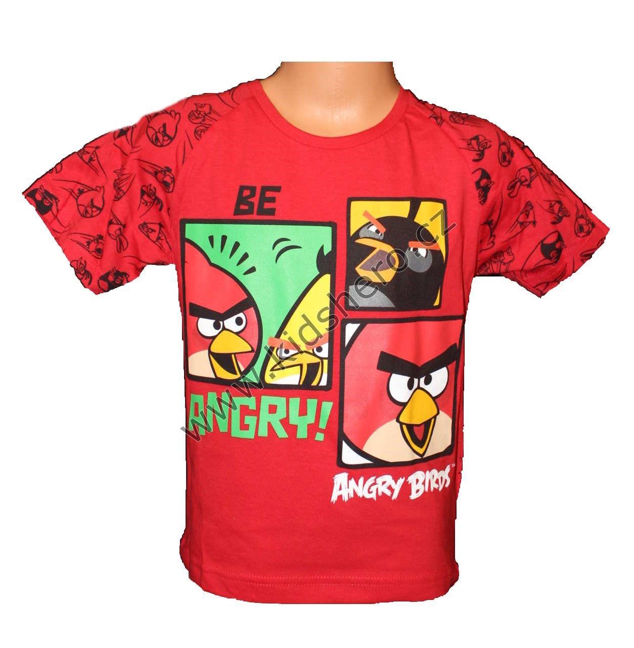 Triko krátký rukáv ANGRY BIRDS - červené Rio