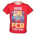 Triko krátký rukáv FC BARCELONA -červené