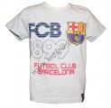 Triko krátký rukáv FC BARCELONA - šedé 2