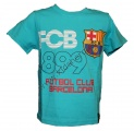Triko krátký rukáv FC BARCELONA - tyrkysové