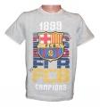 Triko krátký rukáv FC BARCELONA - šedé