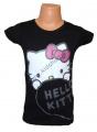Triko krátký rukáv HELLO KITTY - černé