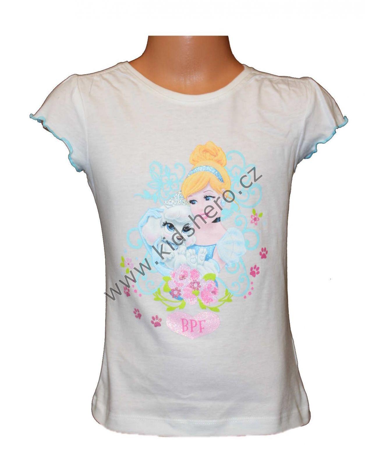 Dětské triko PRINCESS - bílé Disney