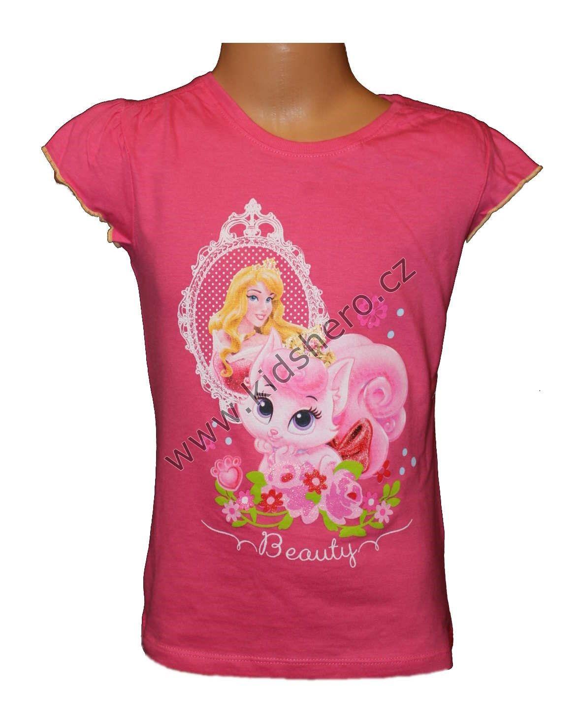 Triko krátký rukáv PRINCESS - růžové Disney