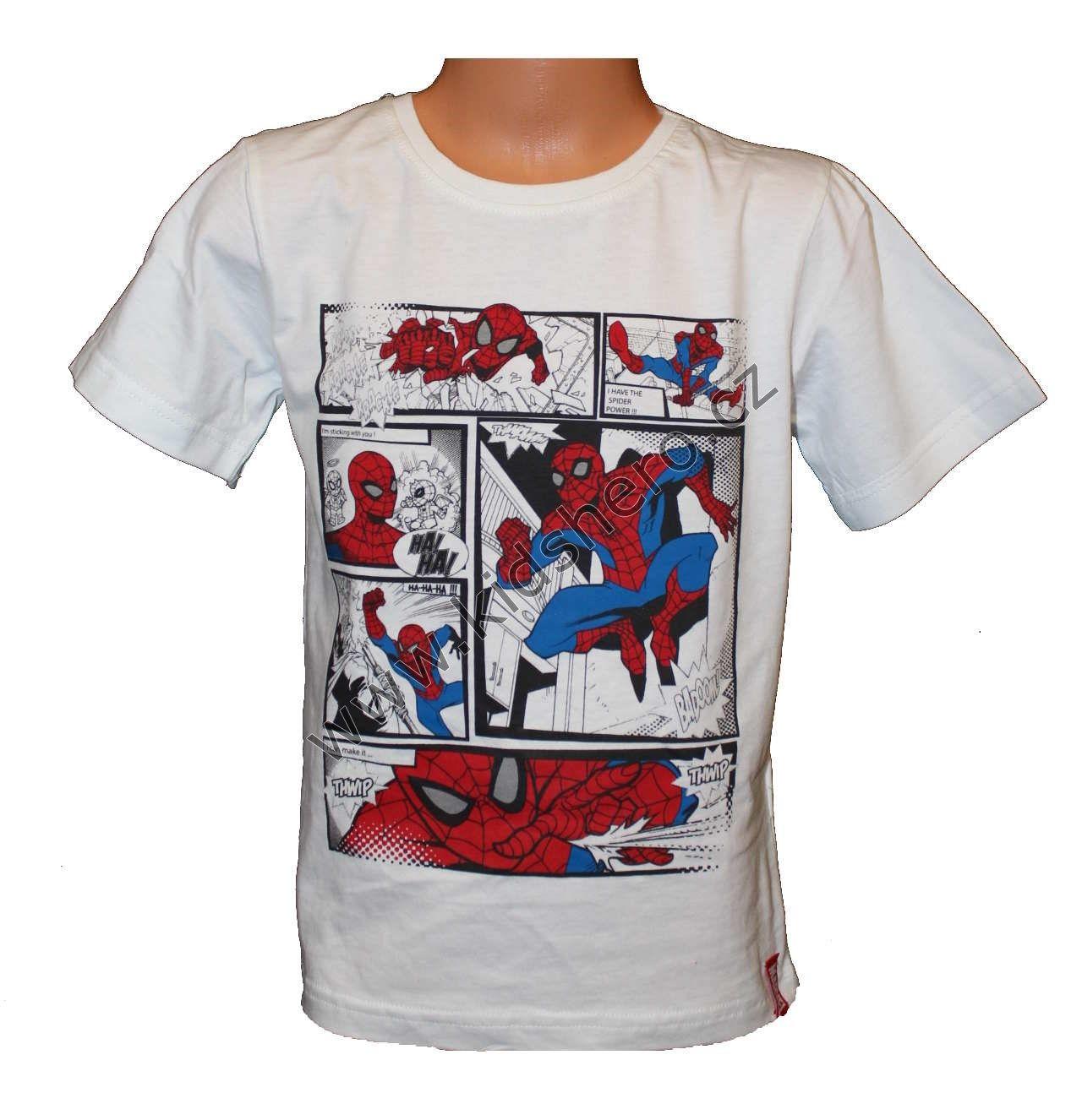 Triko krátký rukáv SPIDERMAN - bílé Marvel