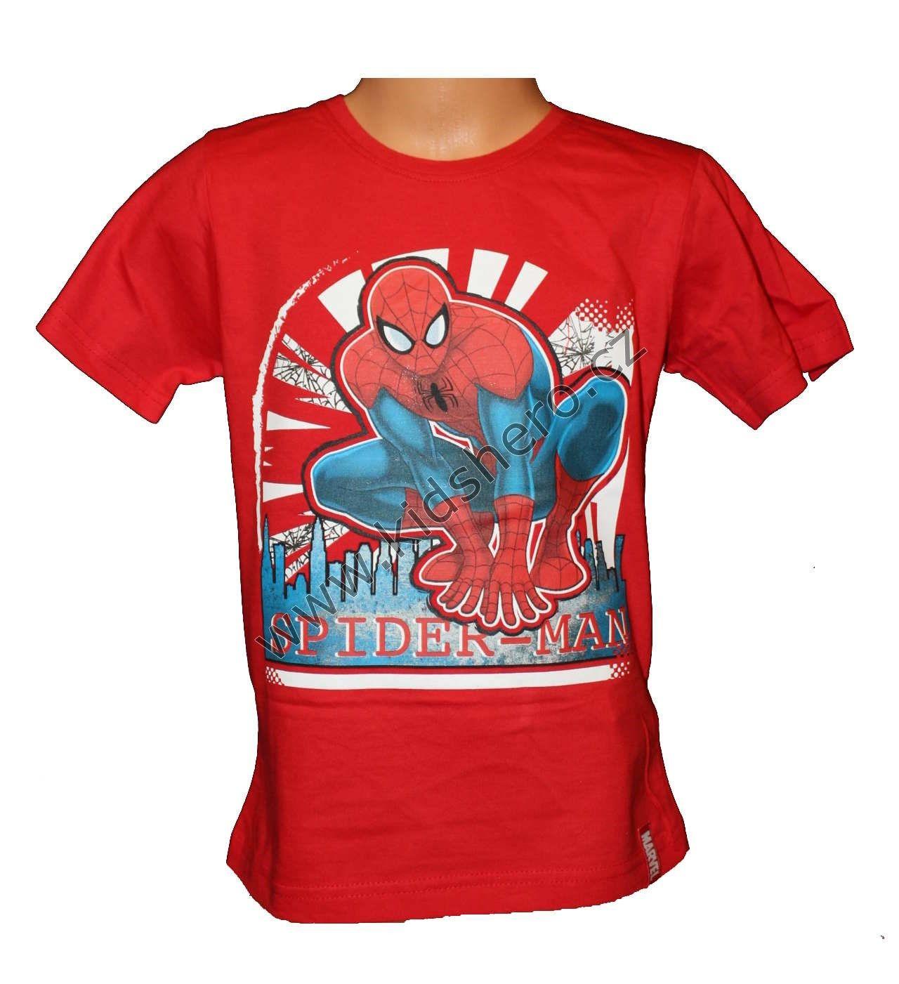 Triko krátký rukáv SPIDERMAN - červené Marvel