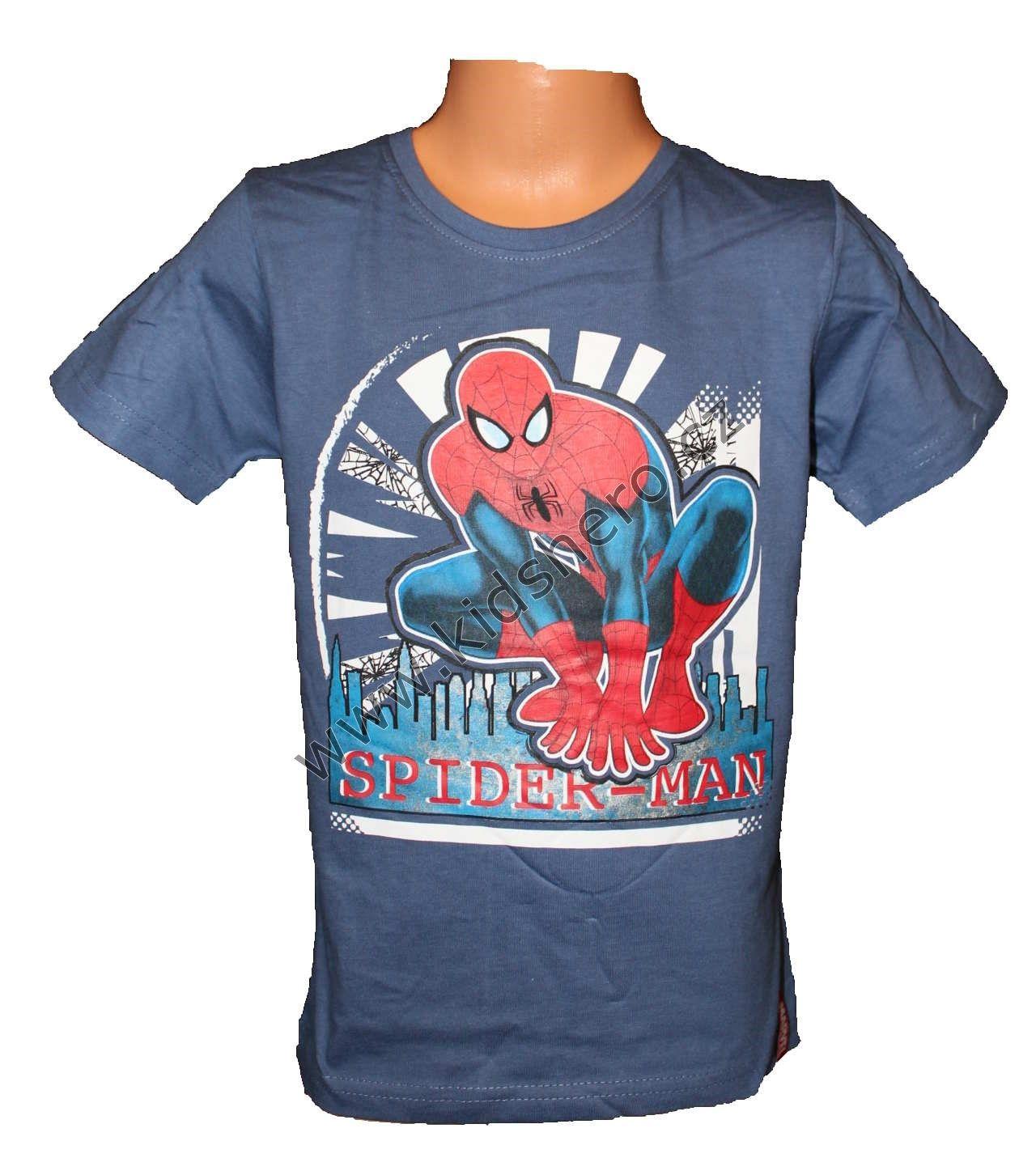 Triko krátký rukáv SPIDERMAN - modré Marvel