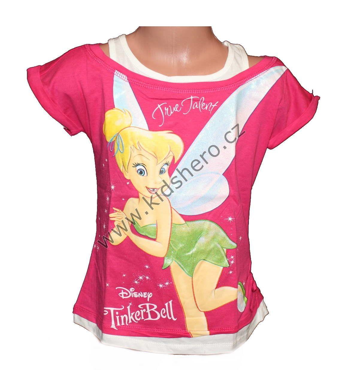 Triko krátký rukáv ZVONILKA - růžové Disney