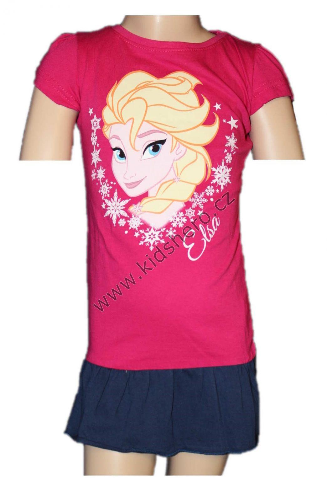 Bavlněné šaty Frozen dívčí licenční šaty šatičky Disney