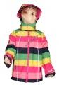 Softshellová bunda s pruhy- růžová
