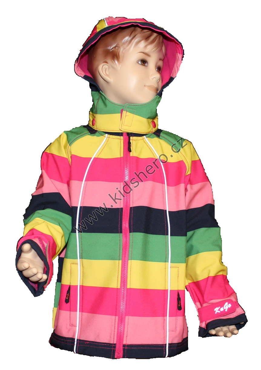 Dětská softshellová bunda růžová KUGO