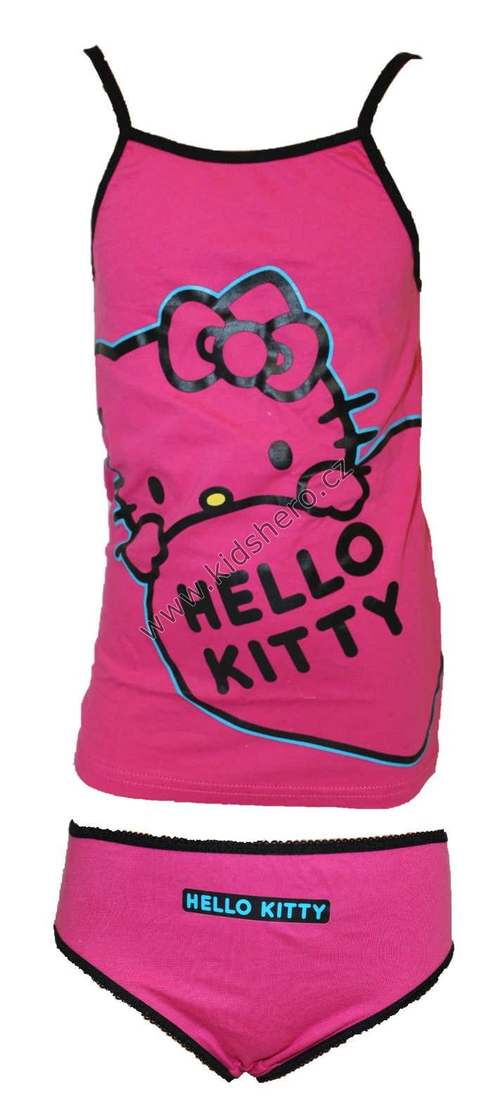 Dětská souprava spodní prádlo - tílko+ kalhotky - HELLO KITTY dívčí licenční Sanrio