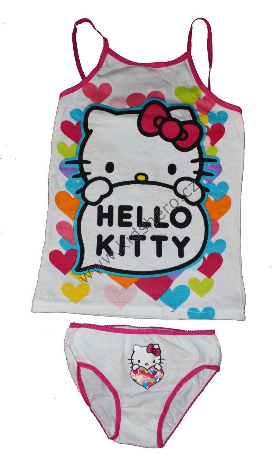 Dětská souprava spodní prádlo - tílko+kalhotky HELLO KITTY dívčí licenční Sanrio