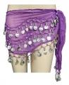 Sukně na břišní tance - fialová