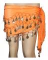 Sukně na břišní tance - oranžová