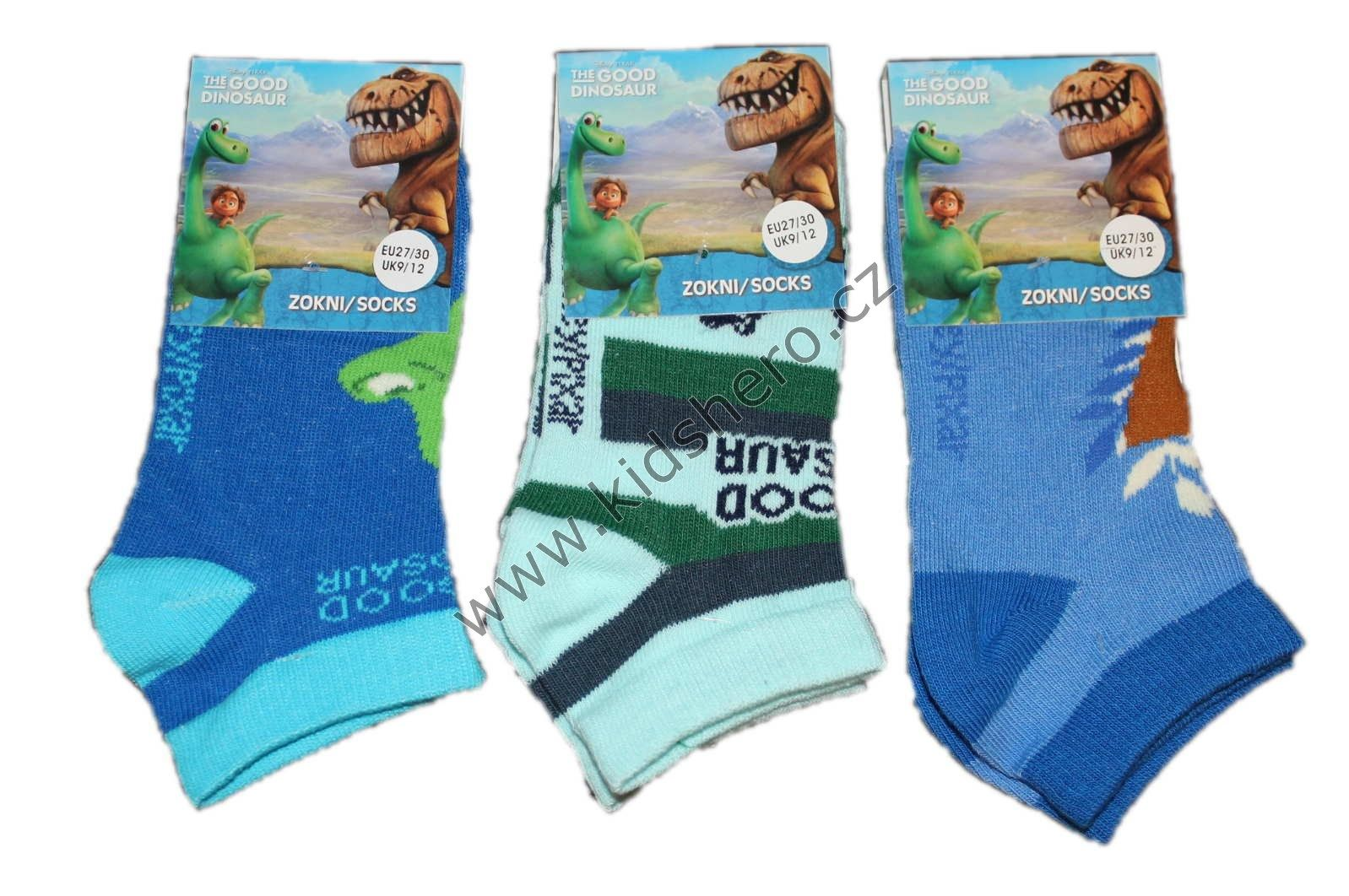Dětské kotníkové ponožky DINOSAUR disney chlapecké licenční