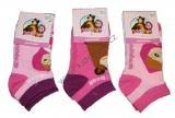 Kotníkové ponožky Máša a Medvěd