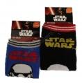 Kotníkové ponožky STAR WARS - černé