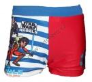 Plavky STAR WARS boxerky pruhy - červeno-modré