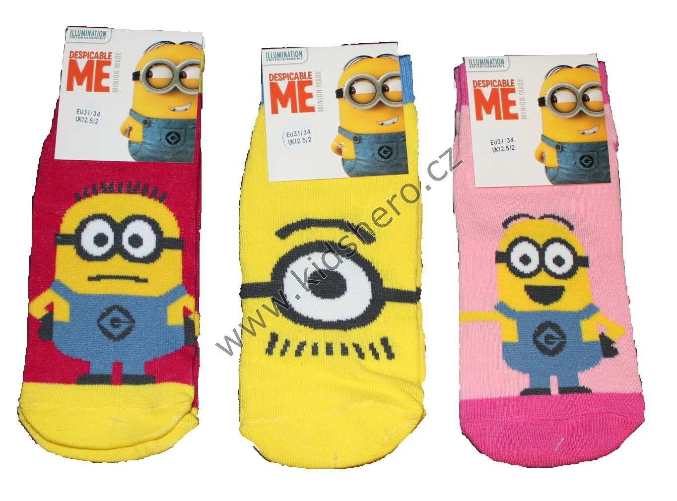 Dětské ponožky Mimoni dívčí Despicable Me