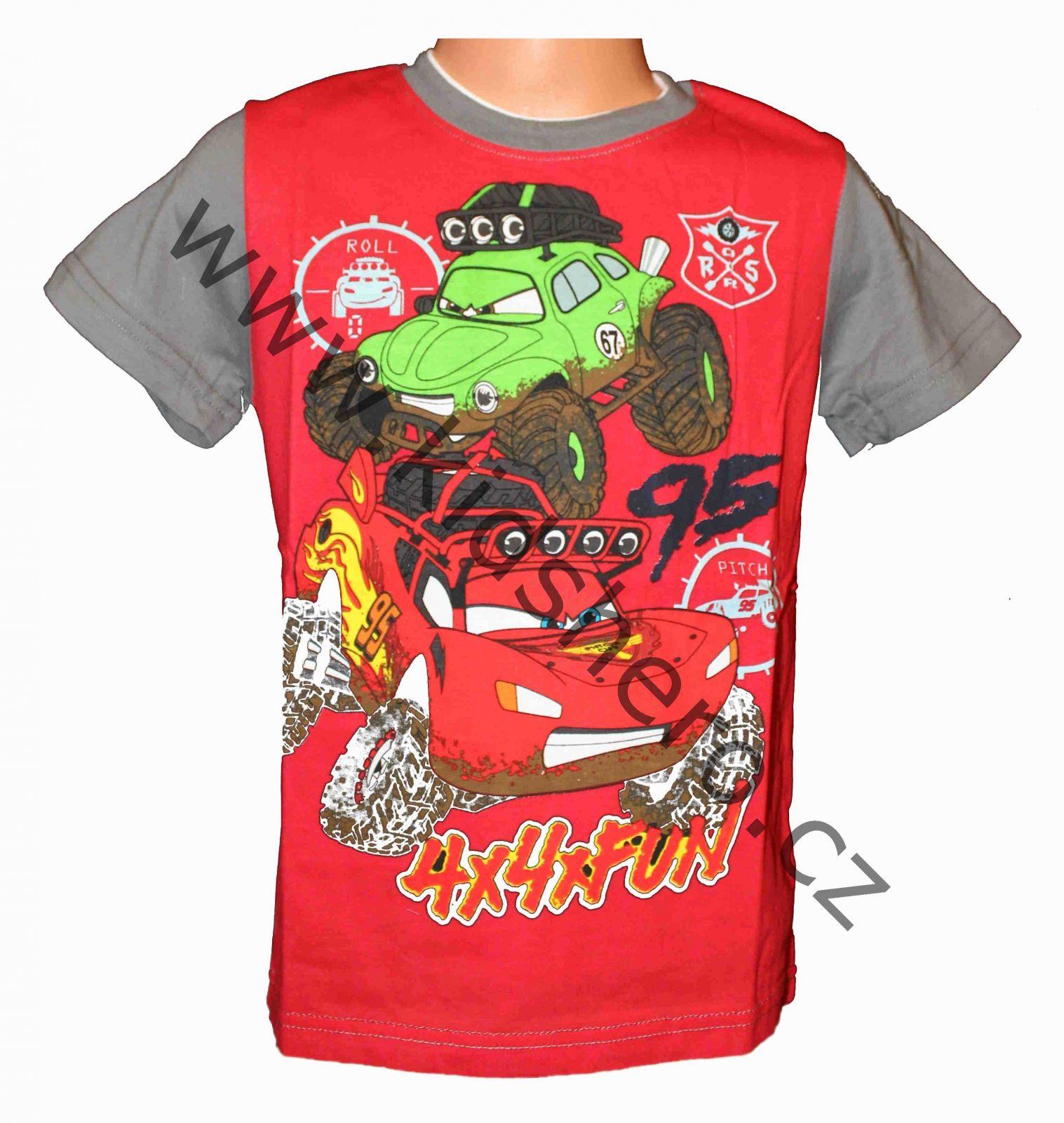 Dětské tričko Cars chlapecké triko s krátkým rukávem Disney
