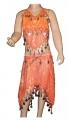 Kostým břišní tanečnice s flitry - oranžový