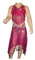 Kostým břišní tanečnice s flitry - tm.růžový