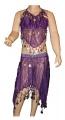 Kostým břišní tanečnice s flitry - fialový