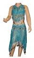 Kostým břišní tanečnice s flitry - tyrkysový