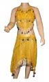 Kostým břišní tanečnice s flitry - žlutý