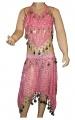 Kostým břišní tanečnice s flitry - sv.růžový