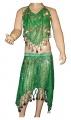 Kostým břišní tanečnice s flitry - zelený