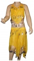 Kostým břišní tanečnice hladký - žlutý