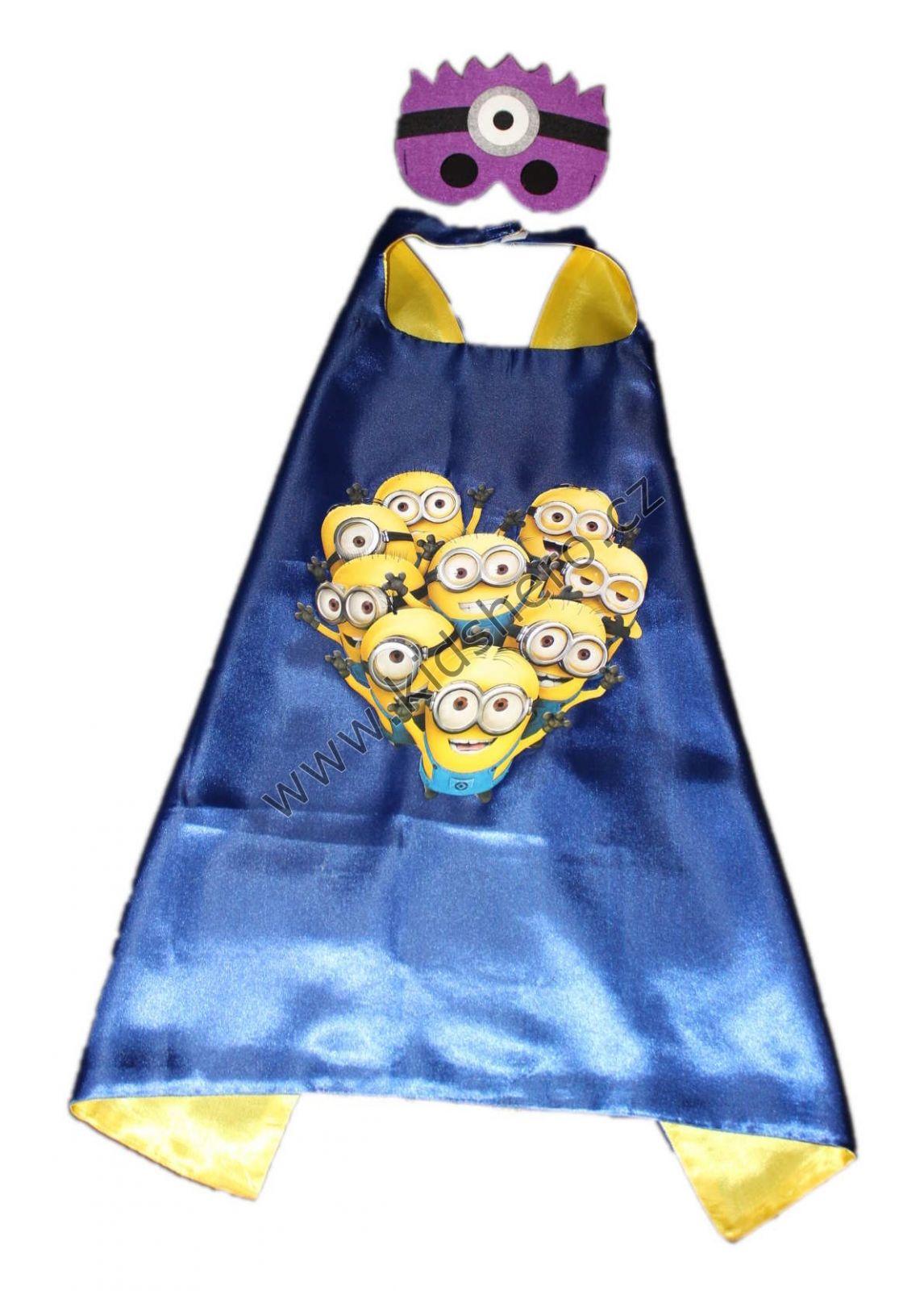 Dětský plášť s maskou MIMONI kostým MIMONI kápě MIMONI s maskou Despicable Me