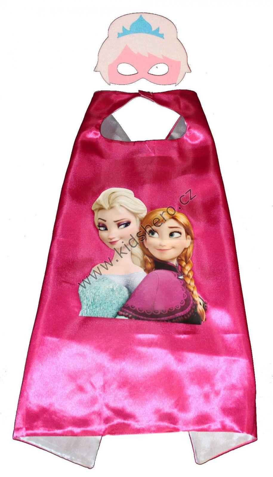Dětský plášť s maskou FROZEN kostým Frozen kápě Frozen s maskou Disney