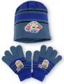 SET MIMONI - čepice + rukavice - tm.modrá
