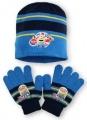 SET MIMONI - čepice + rukavice - sv.modrá