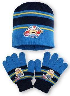 Dětský set MIMONI čepice rukavice zima chlapecké licenční Despicable Me